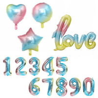 "32"" Giant Foil Number Balloons letter Air Helium Birthday Age Party Wedding Gift"