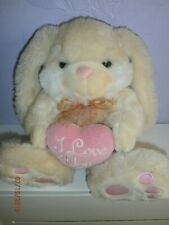 Cream Rabbit Bunny I Love You Simply Soft Collection Keel Toy Company Plush Toy