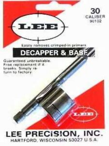 LEE DECAPPER BASE 30 CALIBRE - Reloading #BS