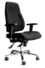 Signum Black Cloth Fabric Memory Foam Office Chair RRP£270 PART BUILT Graded 95%