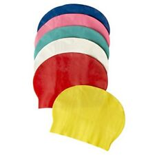 BONNET DE BAIN NATATION PISCINE MER EN LATEX ROUGE