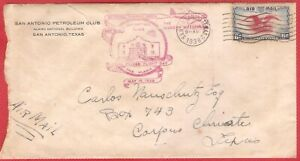 San Antonio Petroleum Club Special Feeder Flight Day Cover 1938