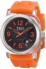 NEW TKO ORLOGI TK548-00 Unisex Milano Remixed Watch Orange Strap Water Resistant