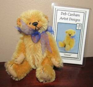 """DEB CANHAM ADORABLE ARTIST TEDDY BEAR """"TENNER"""" 4"""" W/COA"""