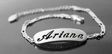 ARIANA - Bracelet With Name - 18ct White Gold Plated - Gifts For Her