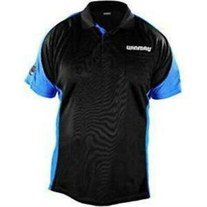 Winmau Wincool 3 Darts Shirt - Black & Aqua Blue