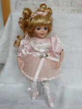"Porcelain Ballerina Doll Pink 12"""