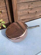 More details for vintage french copper villedieu les poeles frying pan 4.1kg