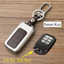 Smart Key Shell Holder Bag Case Fob Chain Cover For Honda Civic Accord 4 Buttons