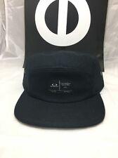 Oakley Latch 5 Panel Cap/Hat Jet Black NWT MSRP $28 One Size