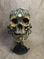 Jacques De Molay  Human Skull Replica Templar Knight Masonic mason memento