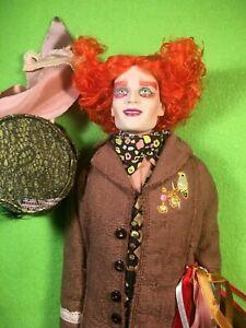 "Tonner Tarrant Mad Hatter 17"" Alice in Wonderland Tim Burton Dressed Doll 2010"