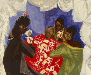Jacob Lawrence The Card Game Giclee Art Paper Print Poster Reproduction