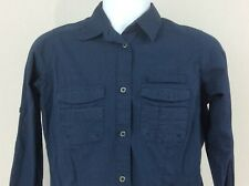 Columbia PFG Womens Shirt Vented Long Sleeve Button Front Blue Small S