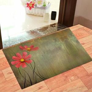 "15"" x 23"" Floral Nylon Doormat (Multicolour) Perfect For Small Bottom Door Gap"
