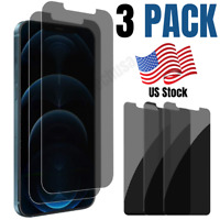 3 Pack iPhone 12 Pro Max Privacy Anti Spy Tempered Glass Screen Protector Lot