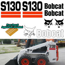 Bobcat S130 Skid Steer Set Vinyl Decal Sticker 7 PC SET + FREE DECAL APPLICATOR