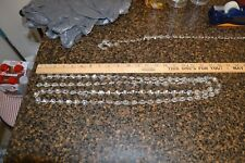 6 feet CUT CRYSTAL 30% LEAD CHANDELIER CHAIN PARTS PRISM SUN CATCHER Silver Bow