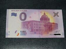 BILLET TOURISTIQUE ZERO EURO SOUVENIR 2017.1 berliner schloss petit numéro 118