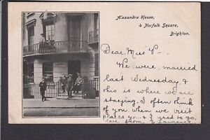 Sussex - Brighton Alexandra House 4, Norfolk Square 1907 Postcard