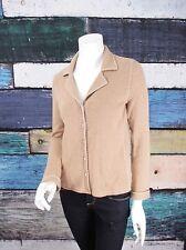 Neiman Marcus Beige Tan 100% Cashmere Blazer Style Cardigan Sweater SMALL S