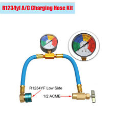 Car Auto Air Conditioning A/C R1234fy Refrigerant Charging Hose with Gauge Kit