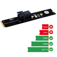 SFF-8643 to M.2 Key M Motherboard Adapter for Intel 2.5 U.2 PCI-E-NVMe SSD #JD