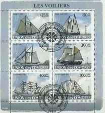 Timbres Bateaux Comores 1291/6 o année 2008 lot 19320 - cote : 16 €