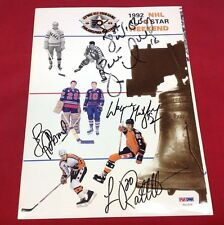 Wayne Gretzky Luc Robitaille Brett Hull Signed 1992 All-Star Program PSA