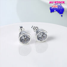 Wholesale 925 Sterling Silver Filled Round CZ Star Zircon Stude Earings Gift
