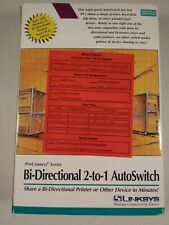 Linksys Bi-Directional 2-to-1  AutoSwitch DCAS221 Boxed Vintage 1997