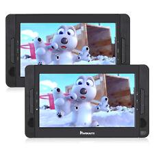 "10.1"" Dual Screen TFT LCD Screen Car Headrest Portable DVD Player Last Memory SD"