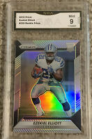 2016 Prizm Silver Ezekiel Zeke Elliott #328 Rookie RC Graded GMA 9