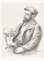"""Artist Louis Valtat Portrait by Pierre Auguste Renoir (1904-05) 17"""" x 22""""- 00060"""