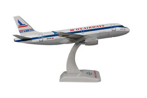 "Avion Airbus A319 US Airways ""Piedmont"" 16,5cm sur socle,neuf échelle 1:200"