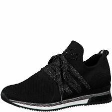 MARCO TOZZI Premio Fashion Slip-On Sneaker Low Top 2-23738-35 Black Comb Schwarz
