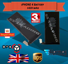 NEW REPLACEMENT BATTERY FOR IPHONE 4G  Full CAPACITY 1420mAh 3 YEARS WARRANTY UK
