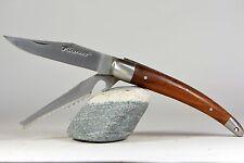 LAGUIOLE Couteau DE PÊCHEUR Double Lame pliante palissandre mitres inox 3650