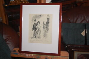 "Vintage Norman Lindsay framed print ""Jiggity Jane"" - The Bulletin July 1915."