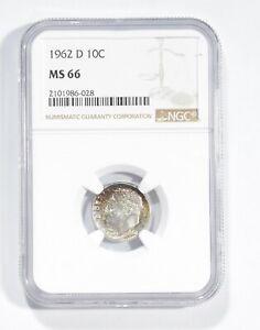 MS66 1962-D Roosevelt Dime - Graded NGC *817