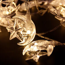 Islamic EID Ramadan 2M 20 LED Festival String LED Light Decor Star Moon Supplies