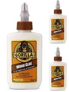 118ML Gorilla Wood Glue PVA Adhesive Strong Bond All Purpose Water Resistant