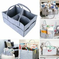 Diaper Organizer Caddy Felt  Foldable Changing Nappy Basket Tote Bag Diaper Bags