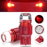2Pcs Red 7443 5630 3 LED Bulb Car Turn Brake Reverse Light Lamp Bulbs 12V