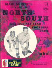 1970 12/25 North vs South All Star Football Game Program Miami Florida
