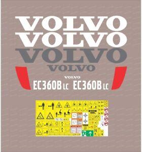 Volvo EC360B LC Excavator Decal / Adhesive / Sticker Complete Set