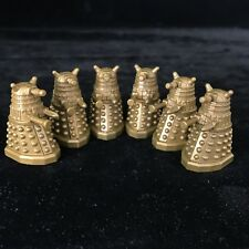 Doctor Who 6 Gold Daleks Action Figures Toy Bundle (Ideal Cake Decorations)