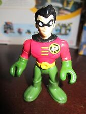 Imaginext Super Friends Batcave Replacement New Robin red shirt elbow boy Figure