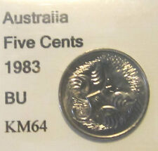 1983 Australia 5c Five Cent UNCIRCULATED FROM MINT SET