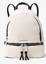 NWT Michael Michael Kors Rhea Small Shearling And Leather Backpack $298